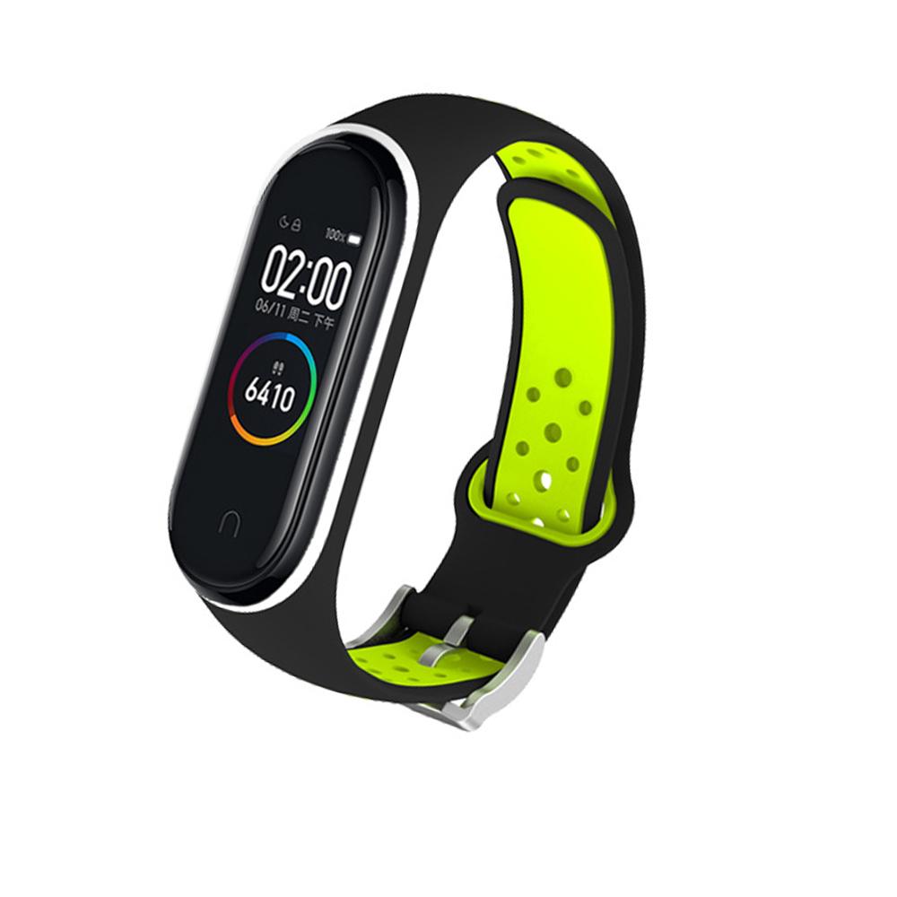 M4 Plus Color Screen Smart Bracelet Heart Rate Monitor Fitness Activity Tracker Smart Band Blood Pressure Wristwatch Dark green