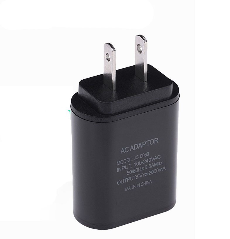 5V 2A USB Fast Charger Mobile Phone Wall Travel Power Adapter for iPhone 6 6s 7 Plus Samsung S7edge Xiaomi Black US  regulations