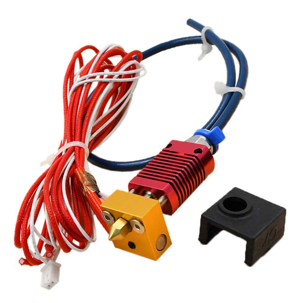 Upgrade Extruder MK8 Hot End Kit with Capricorn PTFE Bowden Tube 1.75mm 0.4mm Nozzle for Creality 3D Printer Ender 3 / Ender 3 Pro