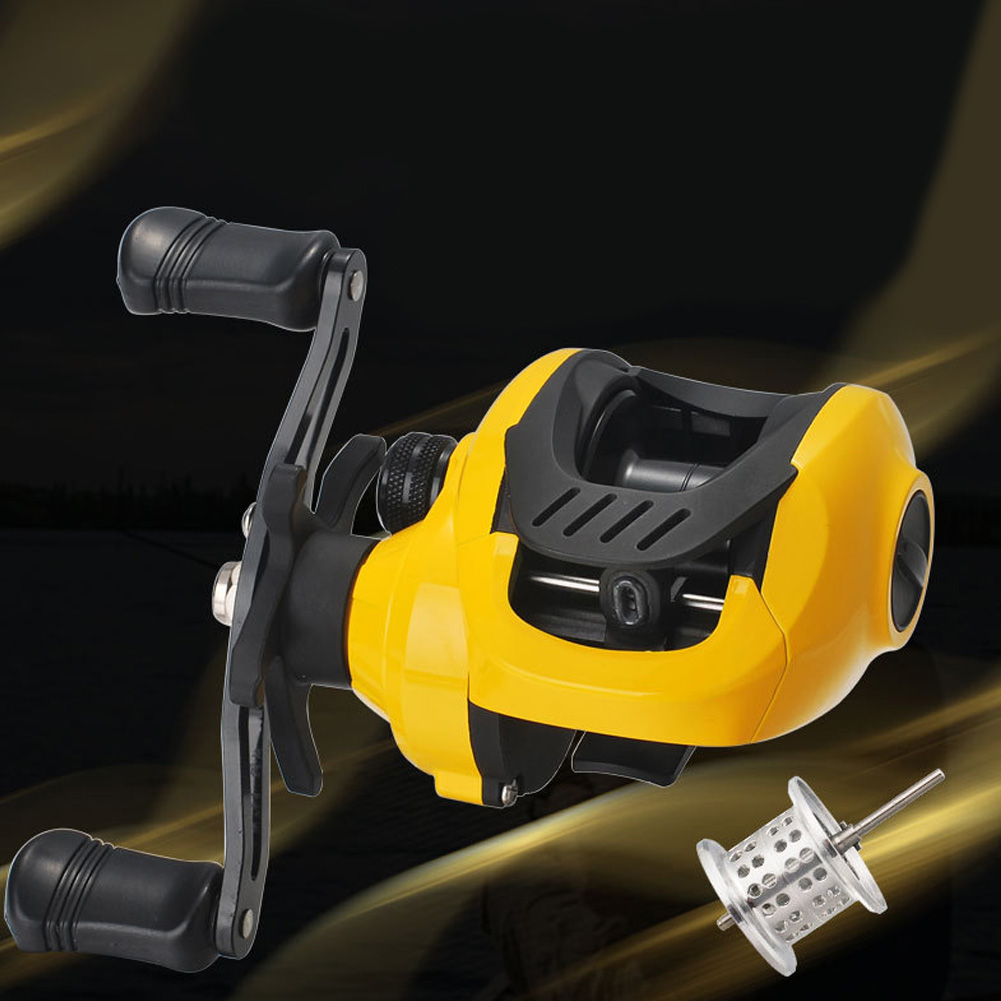 Yellow Fishing Wheel Low-Profile Reel Conversion Wheel Bahau Long Shot Wheel Small yellow wheel right hand + shallow cup