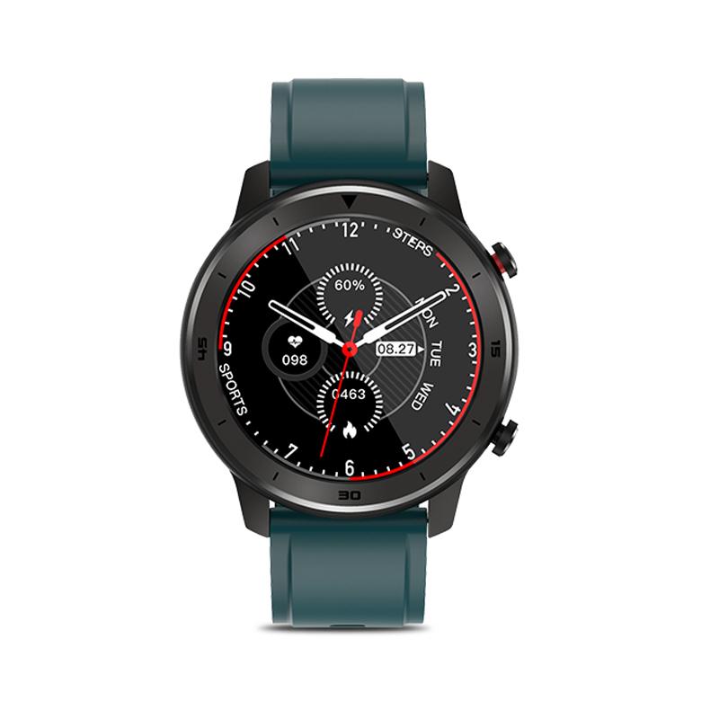 DT78 Smart Watch Fitness Tracker Men Women Wearable Devices Smart Band Heart Rate Monitor ECG Detection Smartwatch Sports Bracelet Black dial green belt