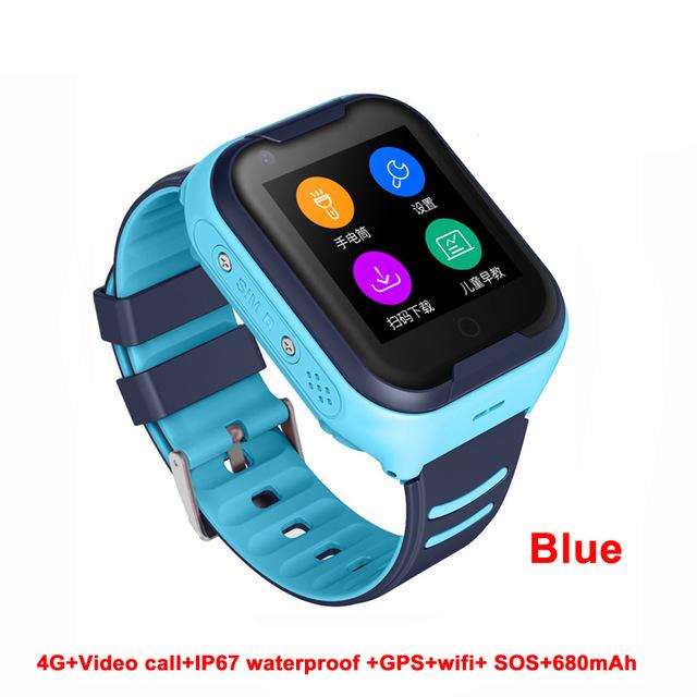 Waterproof 4G Kids Smart Watch Support Bluetooth Connect blue