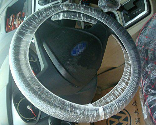 100pcs/Set Universal Disposable Plastic Steering Wheel Cover
