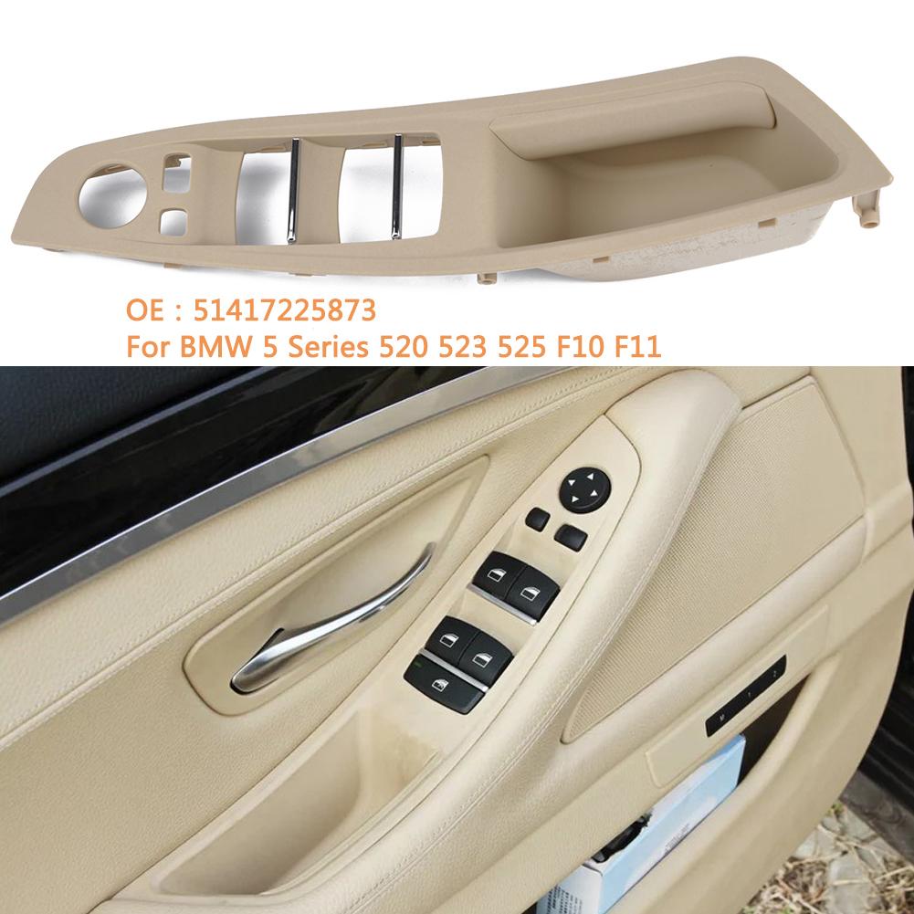 Door Handle Window Switch Panel for BMW 5 Series F10 F18 520 523 525(Beige) Beige