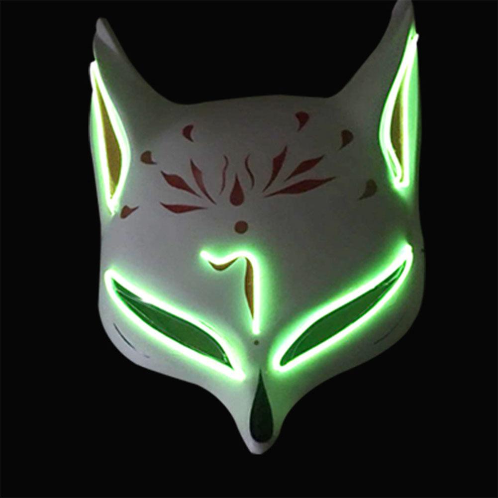 Women Men LED Luminous PVC Mask for Carnival Dance Ball Halloween Christmas