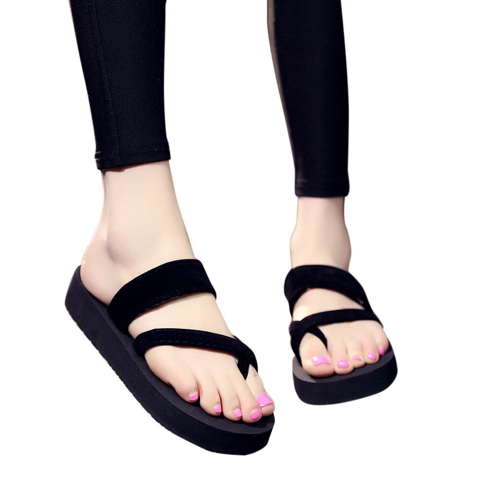 Women Home Anti-slip Foam Sole Comfortable Flat Heel Fashion Slipper black_36/23CM
