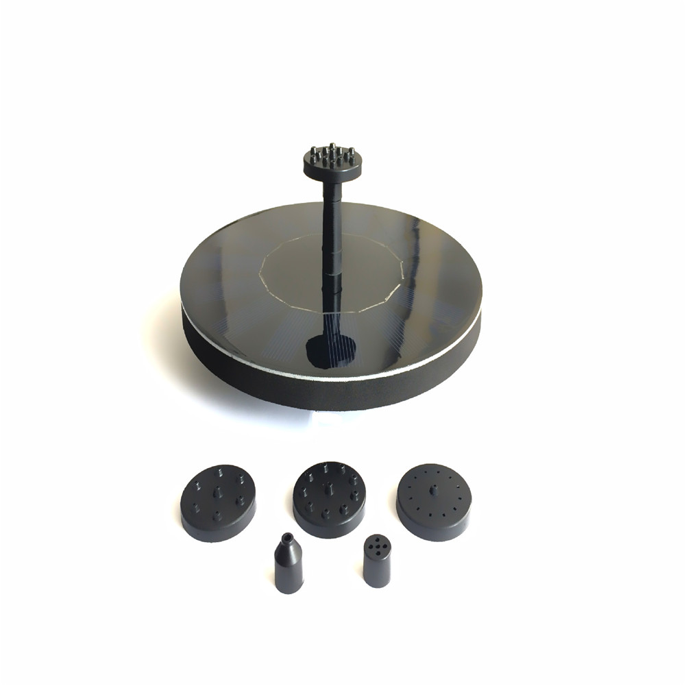 Solar  Fountain Solar Powered Fountain Pump Floating Solar Panel Water Pump Fountain Kit as picture show