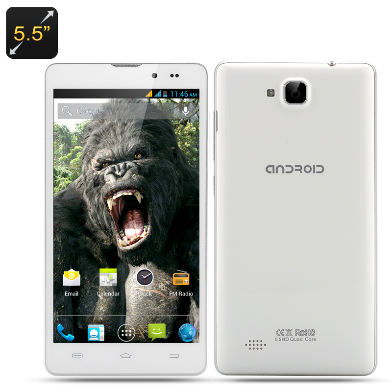 5.5 Inch Android Smartphone 'Kong'  (White)