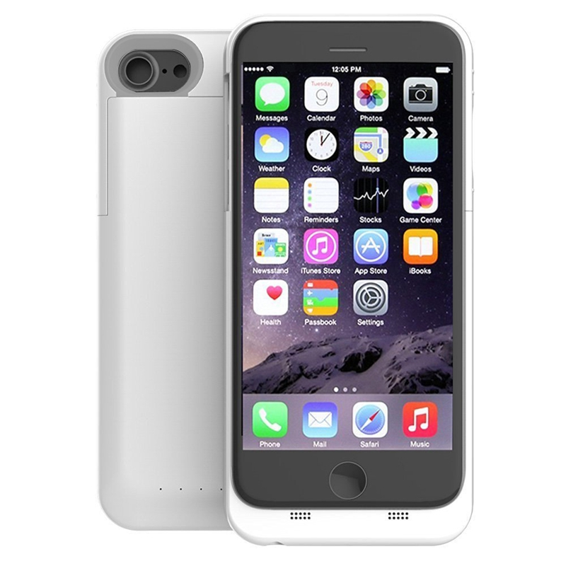 Portable Charger Case for iPhone 6 6s 7 white