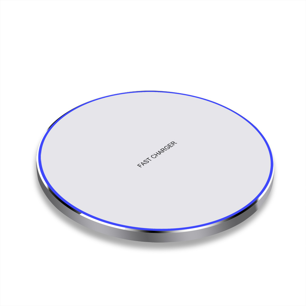 Wireless Magnetic Charger Ultra-thin Aluminum Alloy Quick Charge15wqi Charger 15 w white