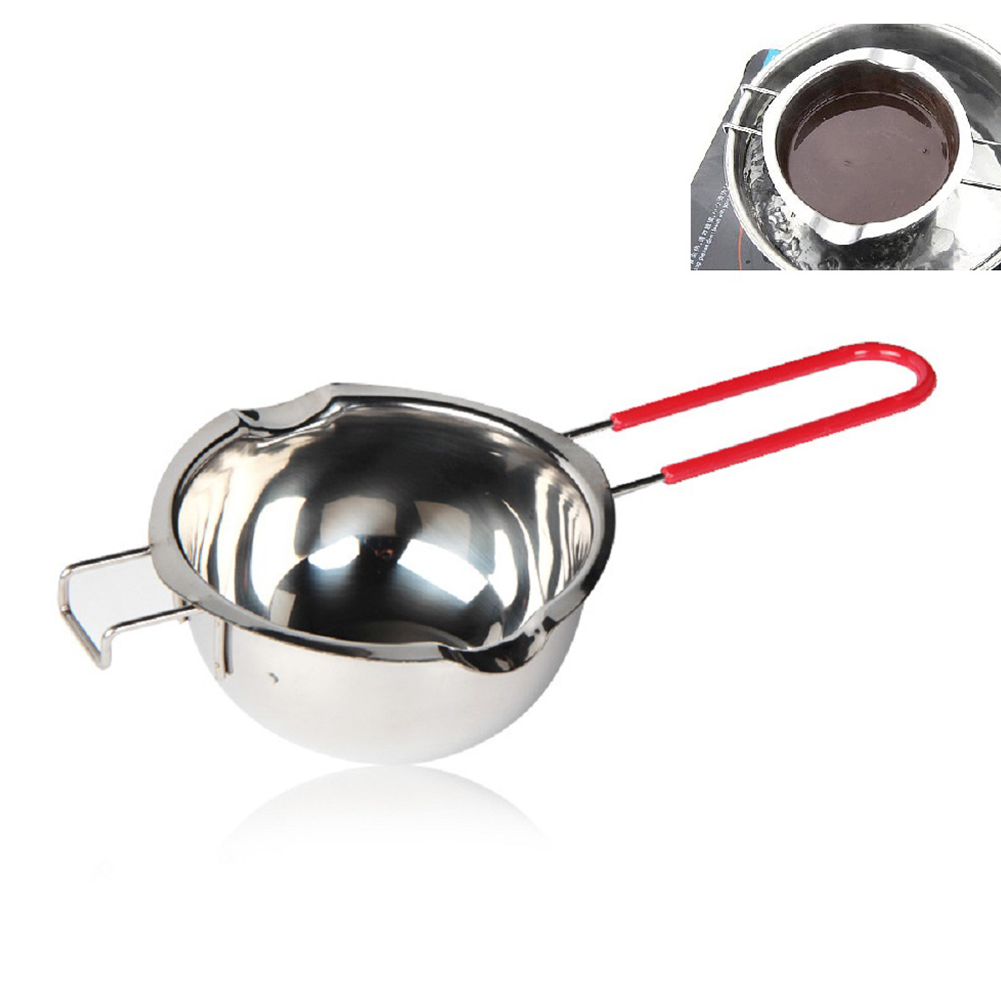 1PC Stainless Steel Anti-scald Melting Pot Heating Bowl for Chocolate Cheese Butter All 304 material anti-scalding handle