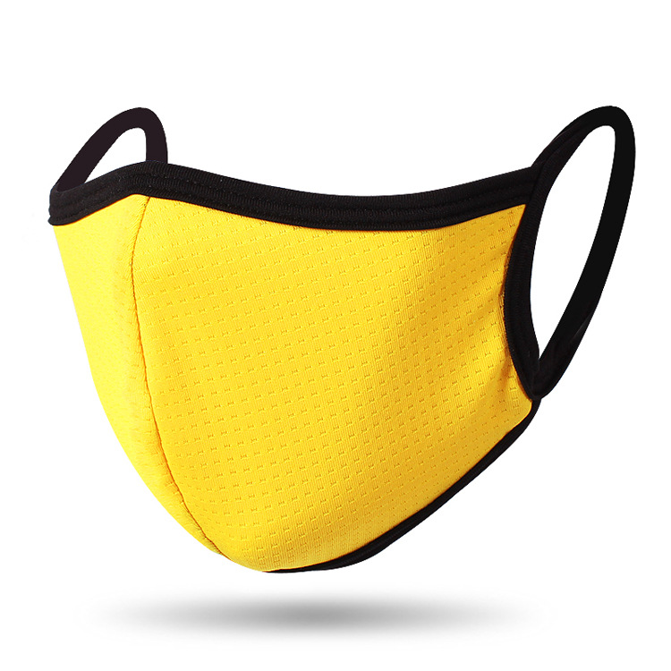 Mouth Masks Quick-drying Breathable Dust-proof Outdoor Masks For Men Women Spring Summer Face Shield Cover Yellow_One size