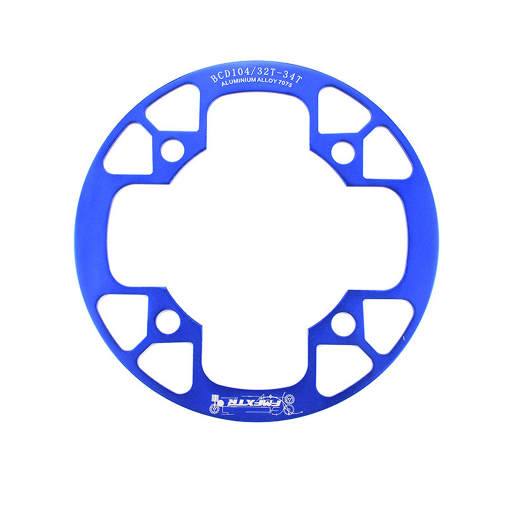 104bcd MTB Bicycle Chain Wheel Protection Cover Bicycle Protection Plate Guard Bike Crankset Full Protection Plate 32-34T blue