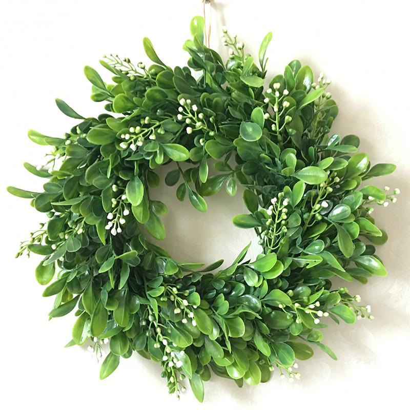 Lifelike Artificial Wreath Flowers Door Hanging Wall Window Decoration Wedding Party Christmas Decor 11.8