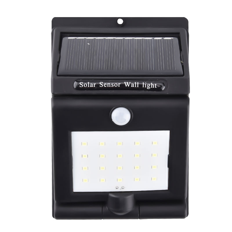 20LEDs Solar Motion Sensor Wall Light Outdoor Yard Street Lamp 150Degree Rotating Waterproof Solar Light Outdoor Lighting 20LEDs wall light