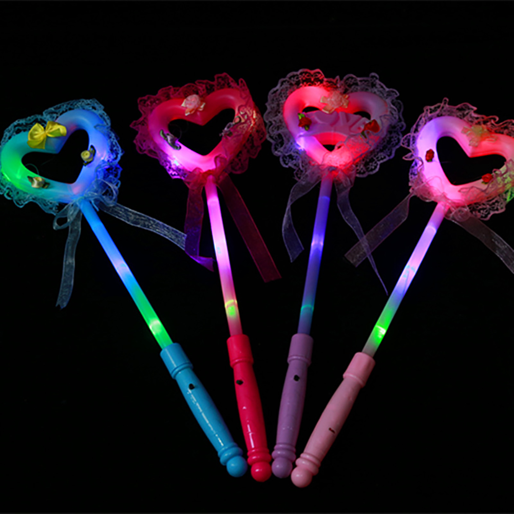 LED Luminous Heart Star Shape Glow Stick Magic Wand Toy  Large fairy stick