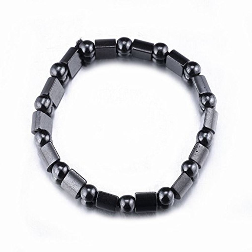 Black Hematite Metal Magnetic Therapy Anklets Bracelet for Pain Relief And Health