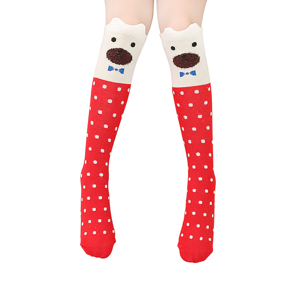 Girl Fashion Cute Bristling Ear Cartoon Animal Over Knee High Socks