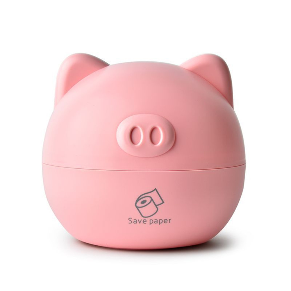Cute Piggy Tissue Storage  Box Table Tissue Container Household Desk Oragnizer Pink