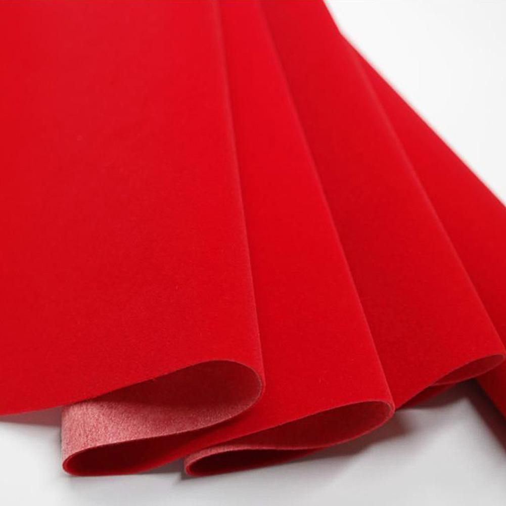 45 * 200cm Self-adhesive Velvet Flock Liner Jewelry Contact Paper Craft Fabric Peel Stick red