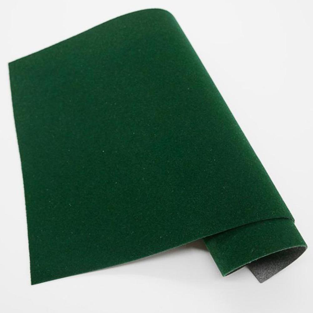 45 * 200cm Self-adhesive Velvet Flock Liner Jewelry Contact Paper Craft Fabric Peel Stick Dark green