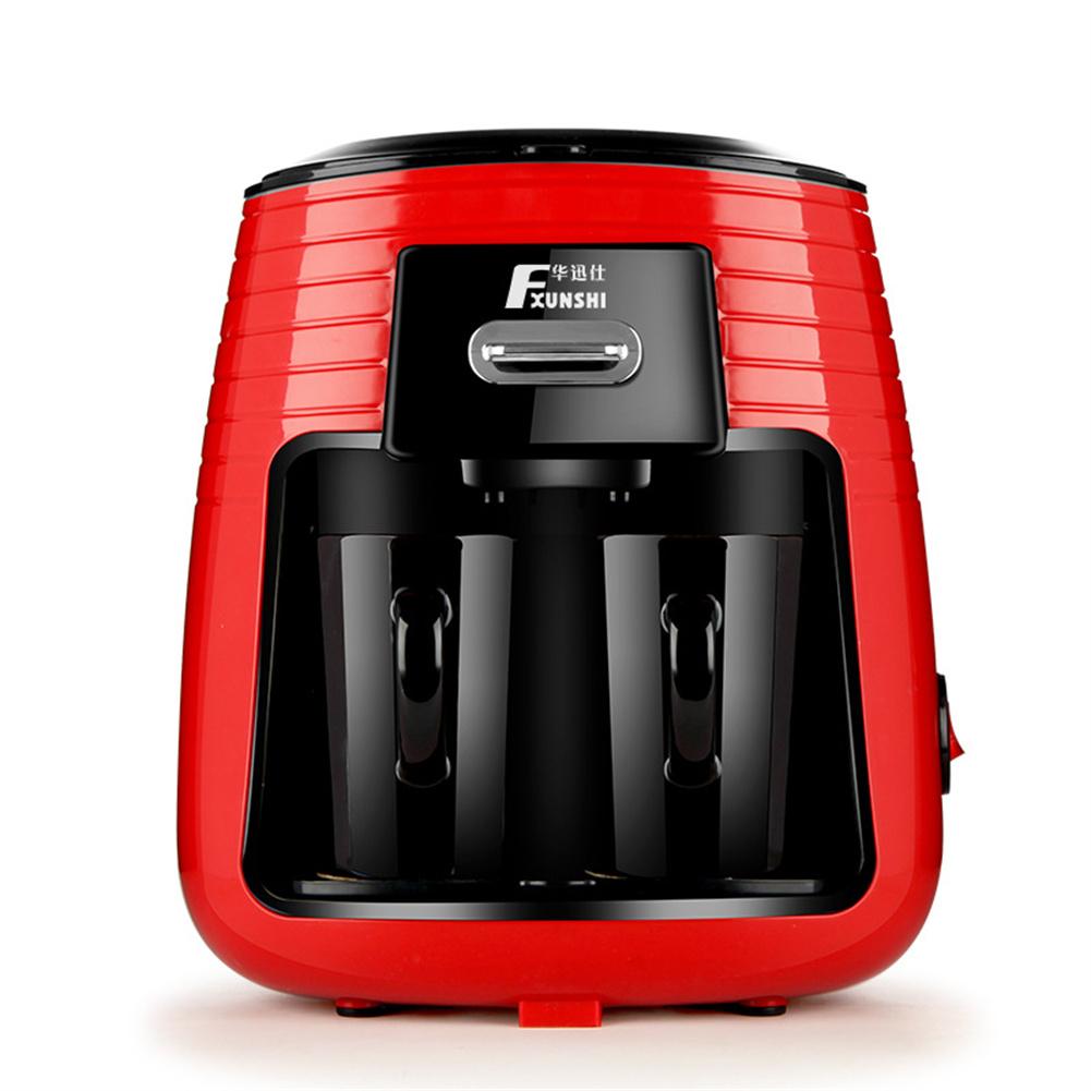 Domestic Double-cup Drip Coffee  Machine Steam Tea Dispenser Tea Brewer Red