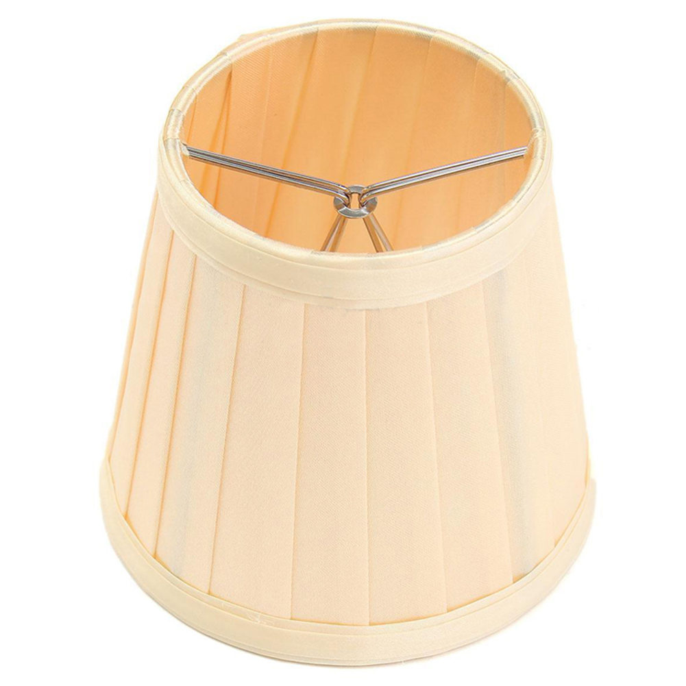 Stylish Pretty Cloth Lampshade Pleated Lamp Cover Ceiling Lamp Holder for Dinning Hall Living Room Bedroom Decoration yellow