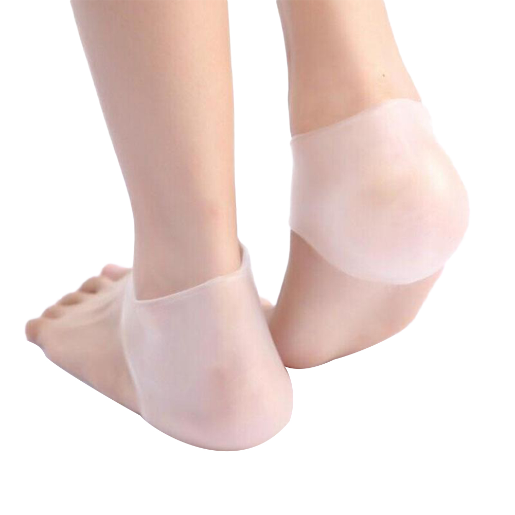 Summer Gel Heel Socks Breathable Foot Protective Cover Anti-shock Ankle Socks  white_free size