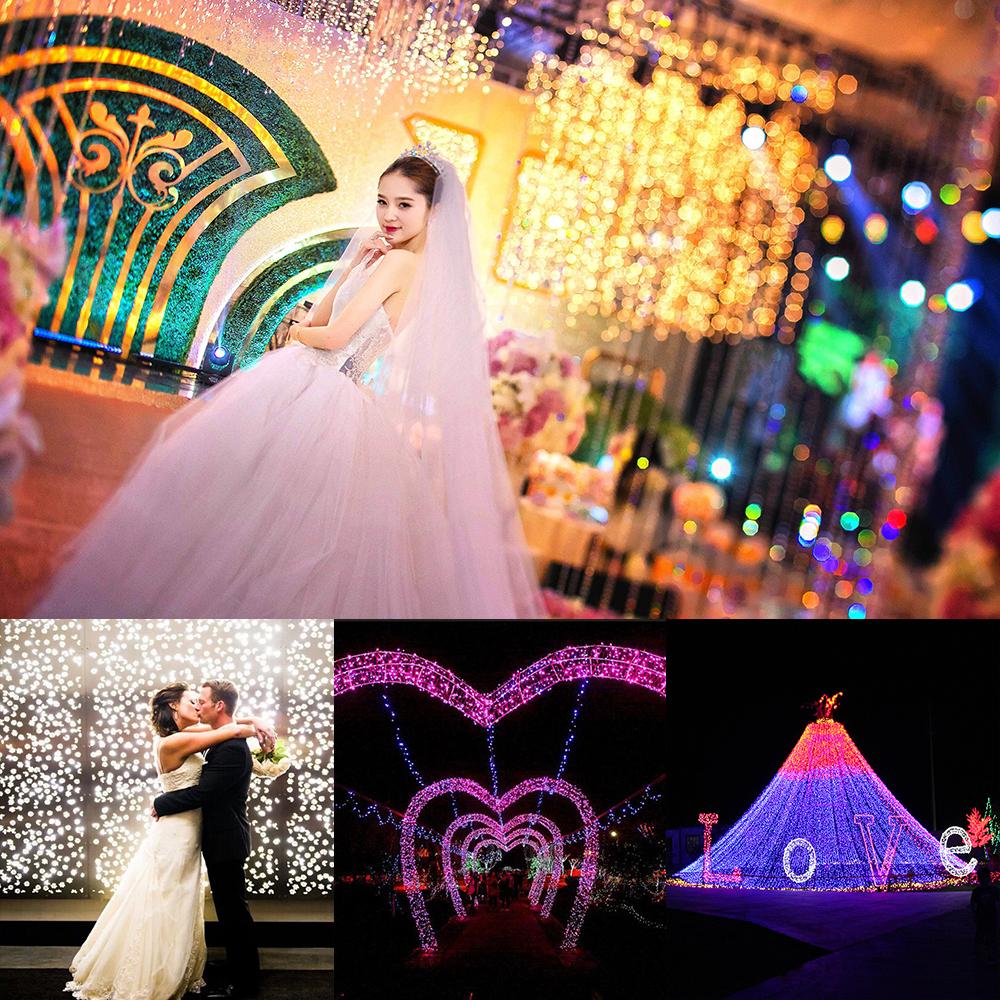 6M 30LEDs Rose Flower Shape String Lamp for Wedding Festival Decorative Lighting Prop warm light_(ME0004202)