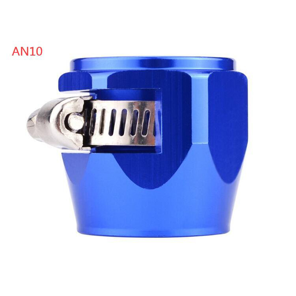 AN4 AN6 AN8 AN10 AN12 Car Hose Finisher Clamp Radiator Modified Fuel Pipe Clip Buckle Blue-AN10