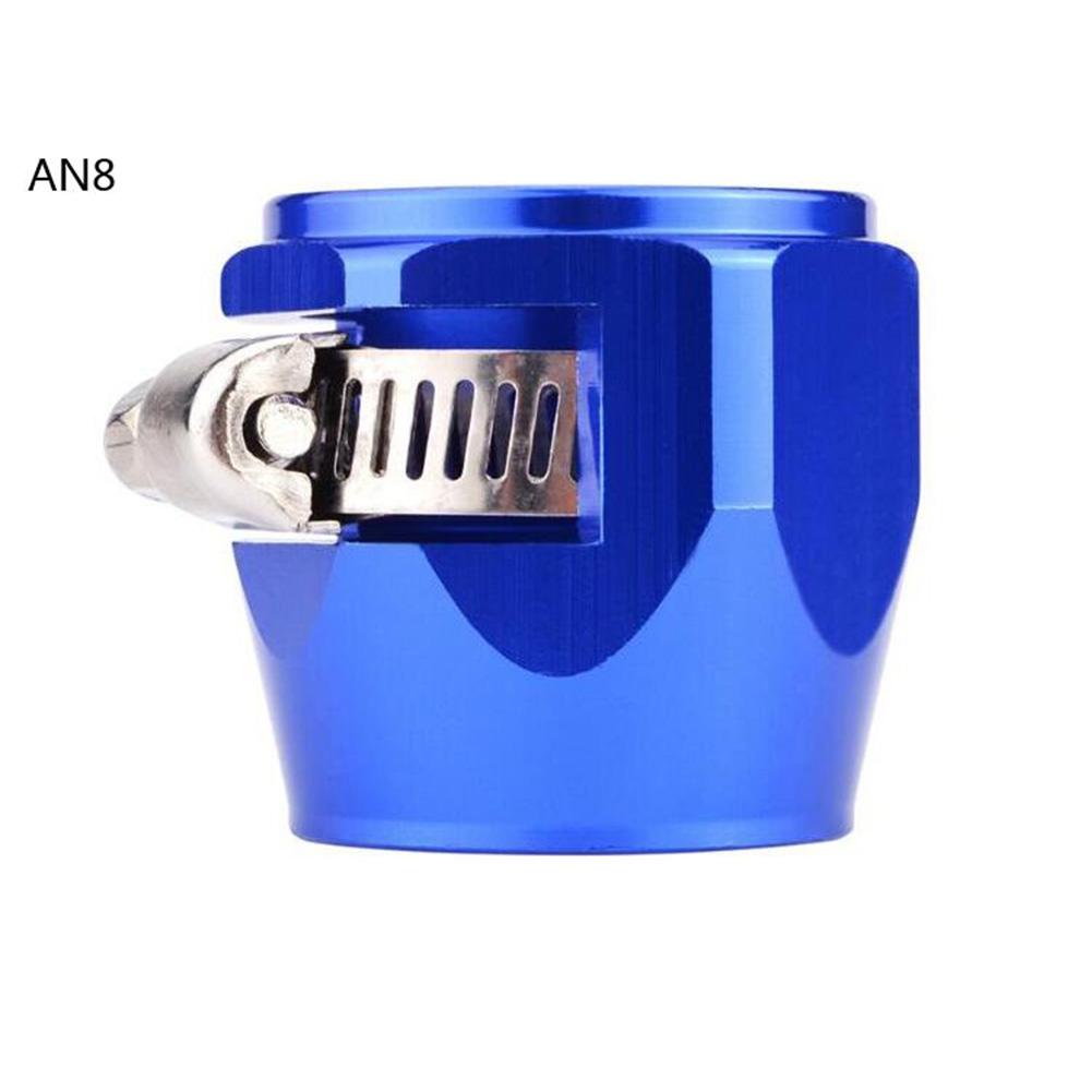 AN4 AN6 AN8 AN10 AN12 Car Hose Finisher Clamp Radiator Modified Fuel Pipe Clip Buckle Blue-AN8
