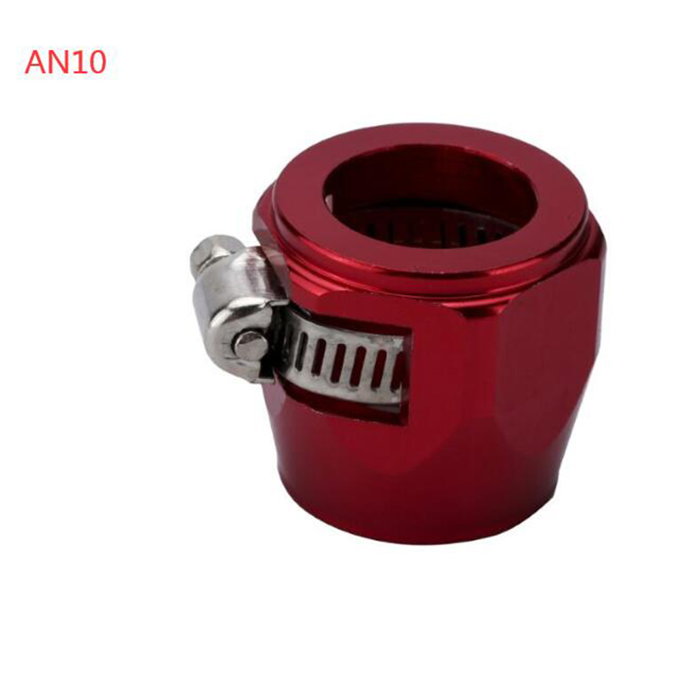 AN4 AN6 AN8 AN10 AN12 Car Hose Finisher Clamp Radiator Modified Fuel Pipe Clip Buckle Red-AN10