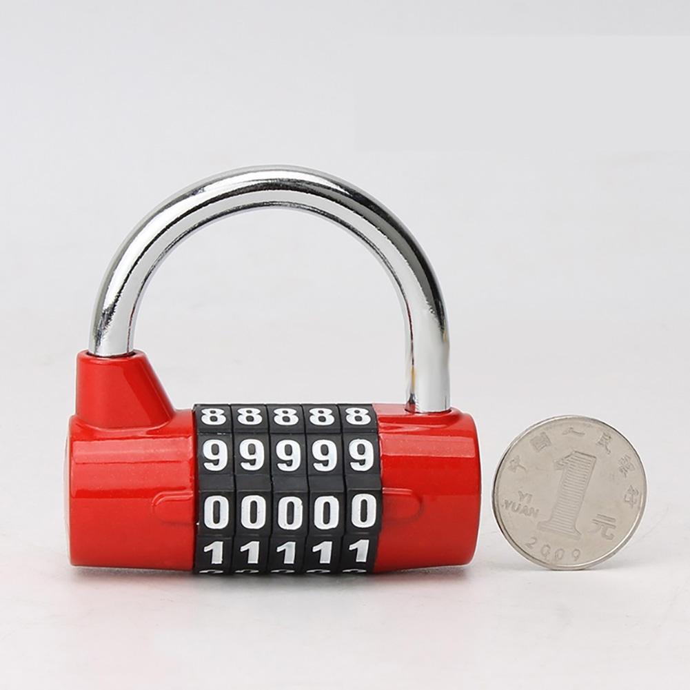 Door Cabinet Password Lock Five-digit Password Locker Locker Cabinet Door Lock red