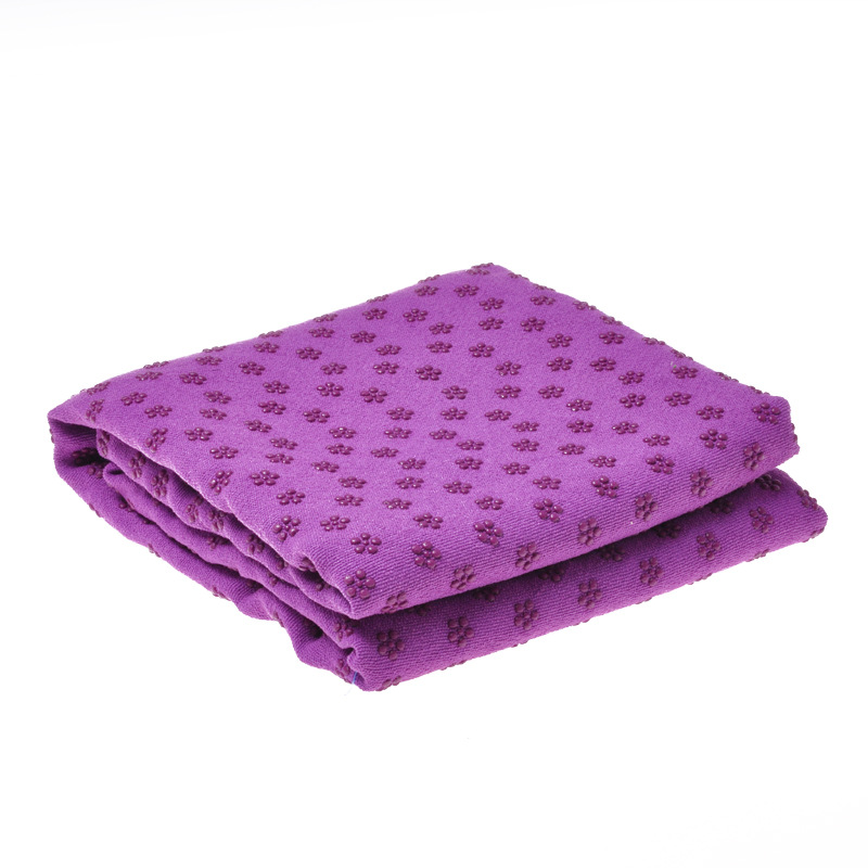 Yoga Mat Towel Non Slip Yoga Mat Cover Towel Blanket Sport Fitness Exercise Pilates Workout purple