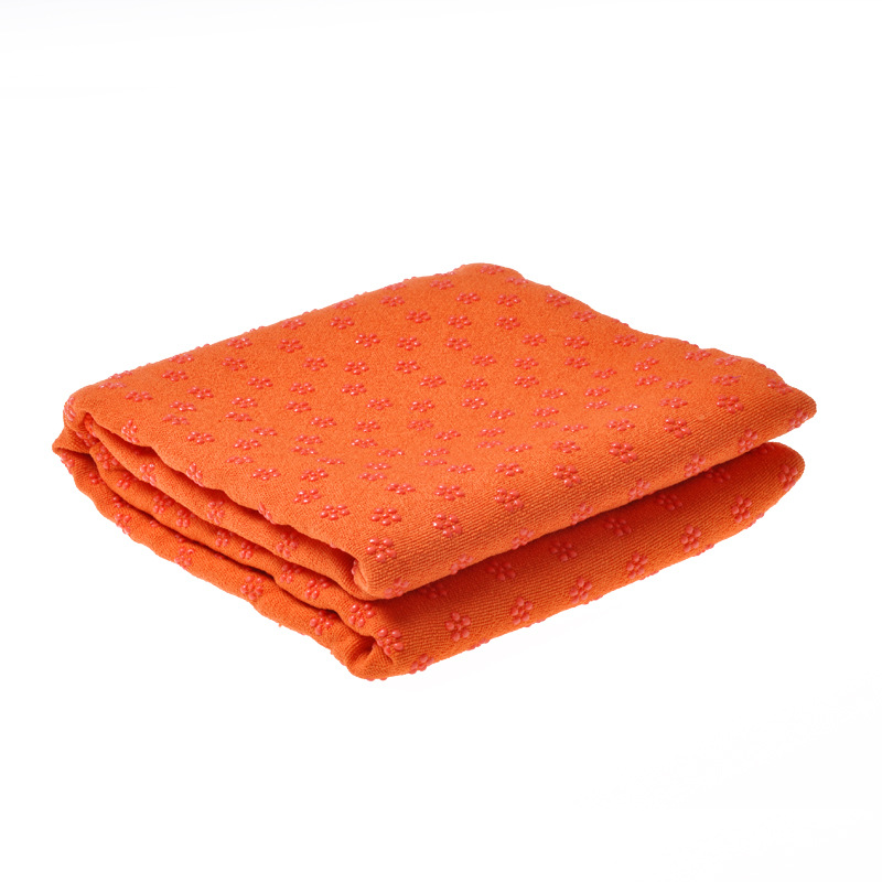 Yoga Mat Towel Non Slip Yoga Mat Cover Towel Blanket Sport Fitness Exercise Pilates Workout Orange