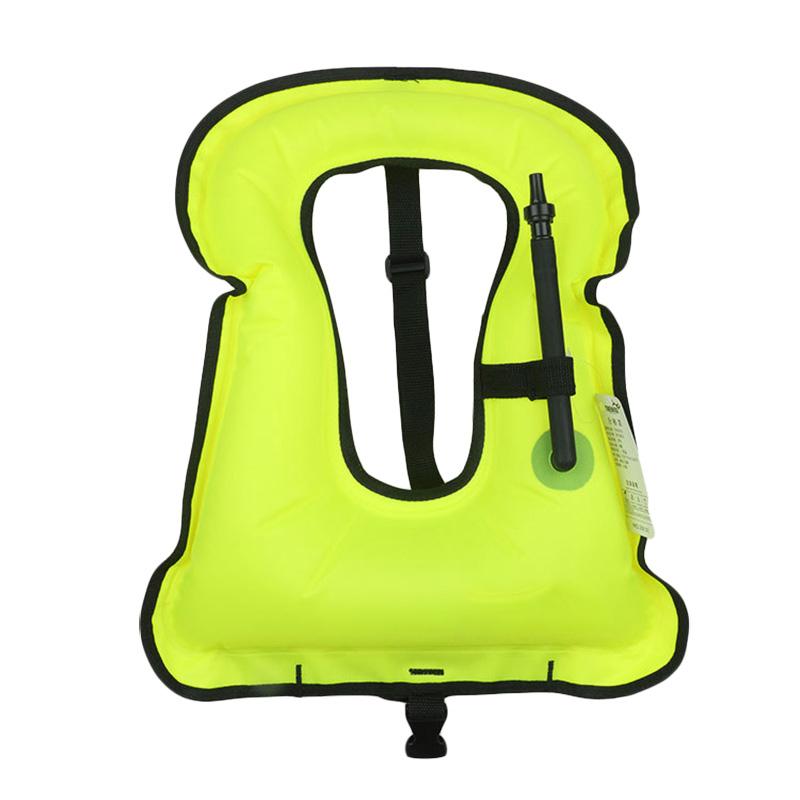 Personal Flotation Device Inflatable Lifejacket Portable Bright Color Snorkeling Vest Random Color