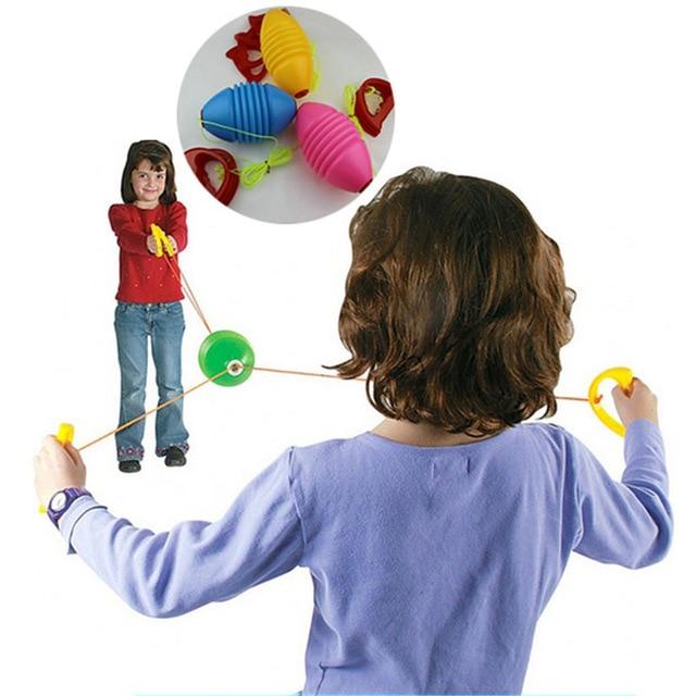 Craft Souvenir Gift Shuttle Pull Ball Toy Hand Ball Children's Double Fitness Rally Ball Kindergarten Parent-Child Game Movement