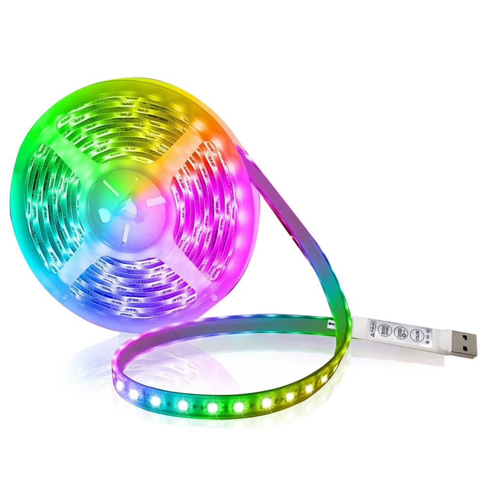 Led  Strip Light 5v Flexible Lamp Tape Diode Rgb 5050 Usb Tape  Lights Tv Background Lighting 2 meters