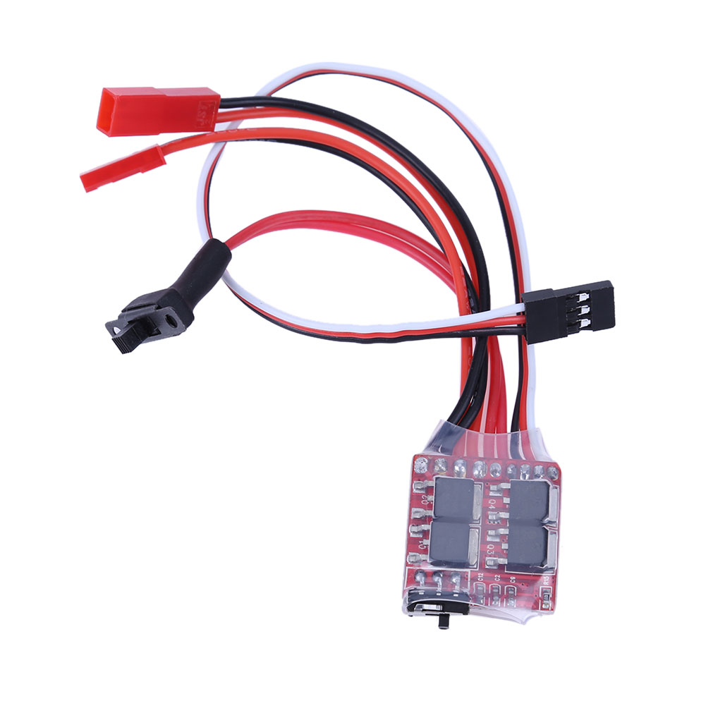 RC ESC 20A Brushed Motor 2KHz Electronic Speed Controller W / Brake for RC Car Boat Tank Helicopter default