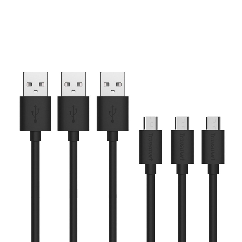 Tronsmart 3 Pack USB to Micro USB Leads