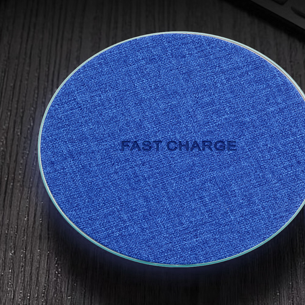 Ultra Thin Desktop QI Wireless Charger Mini Charging Pad for iPhone XS MAX XR X 8 Plus Samsung Note 9 S9 S8 Xiaomi Woven design 10w