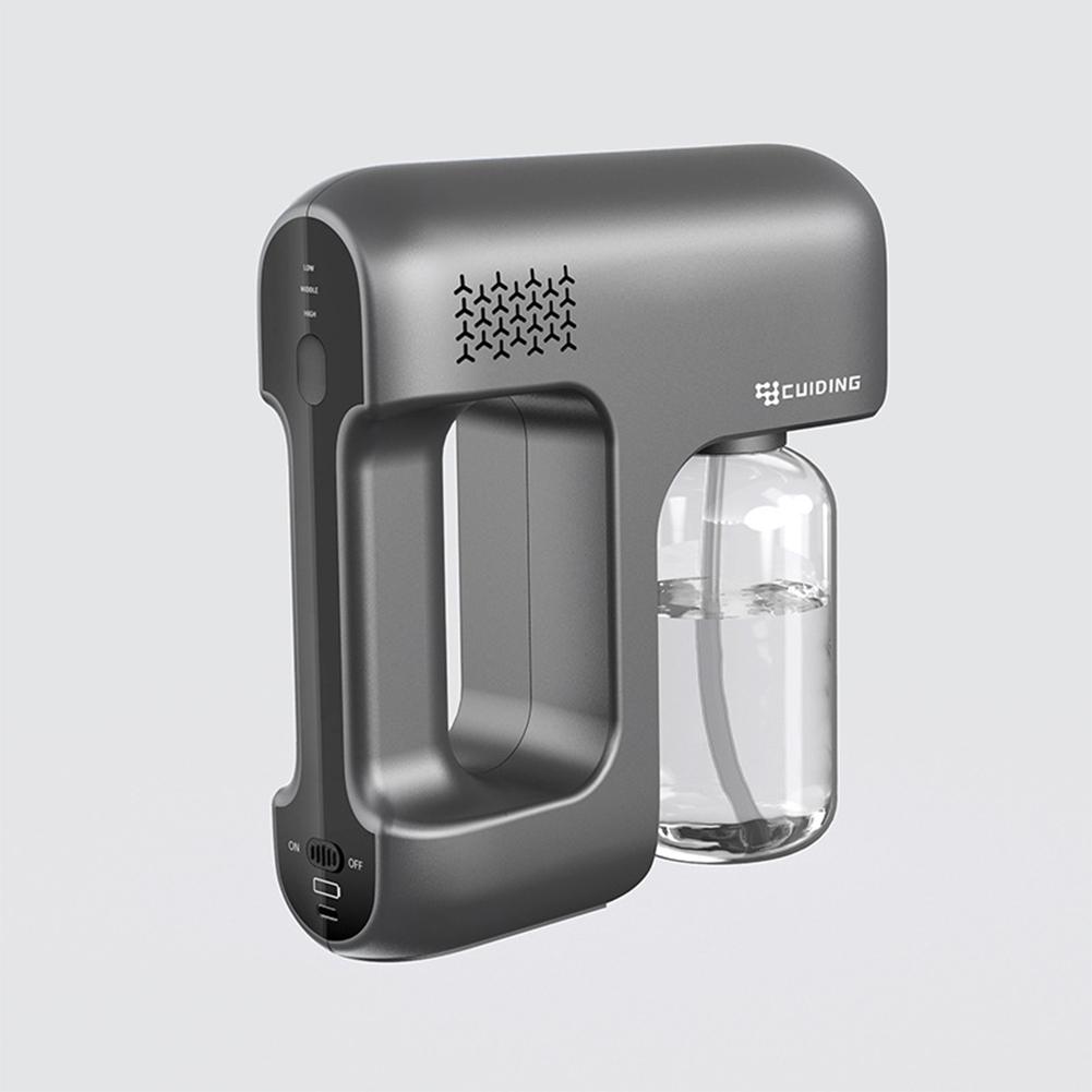 380ml Usb Steam  Spray  Machine Cordless Atomization Sanitizer  Fogger  Torch black