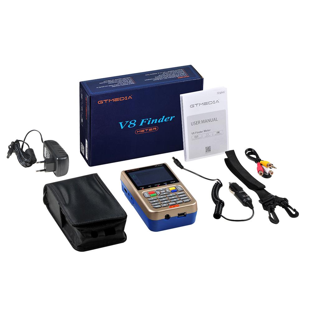 GTMEDIA V8 Finder meter(V-73HD) DVB-S2/S2X Digital Satellite Finder High Definition Sat Finder Satellite Meter  UK plug