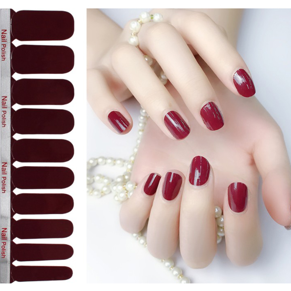 Full Wraps Shinning Nail Stickers Decals DIY Nail Art Stickers for 20 Fingers Normal specifications_#38