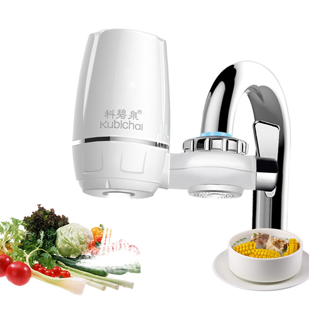 Exquisite Faucet Water Purifier Tap Water Filter with Ceramic Filter Element Filter Element Kitchen Supplies white