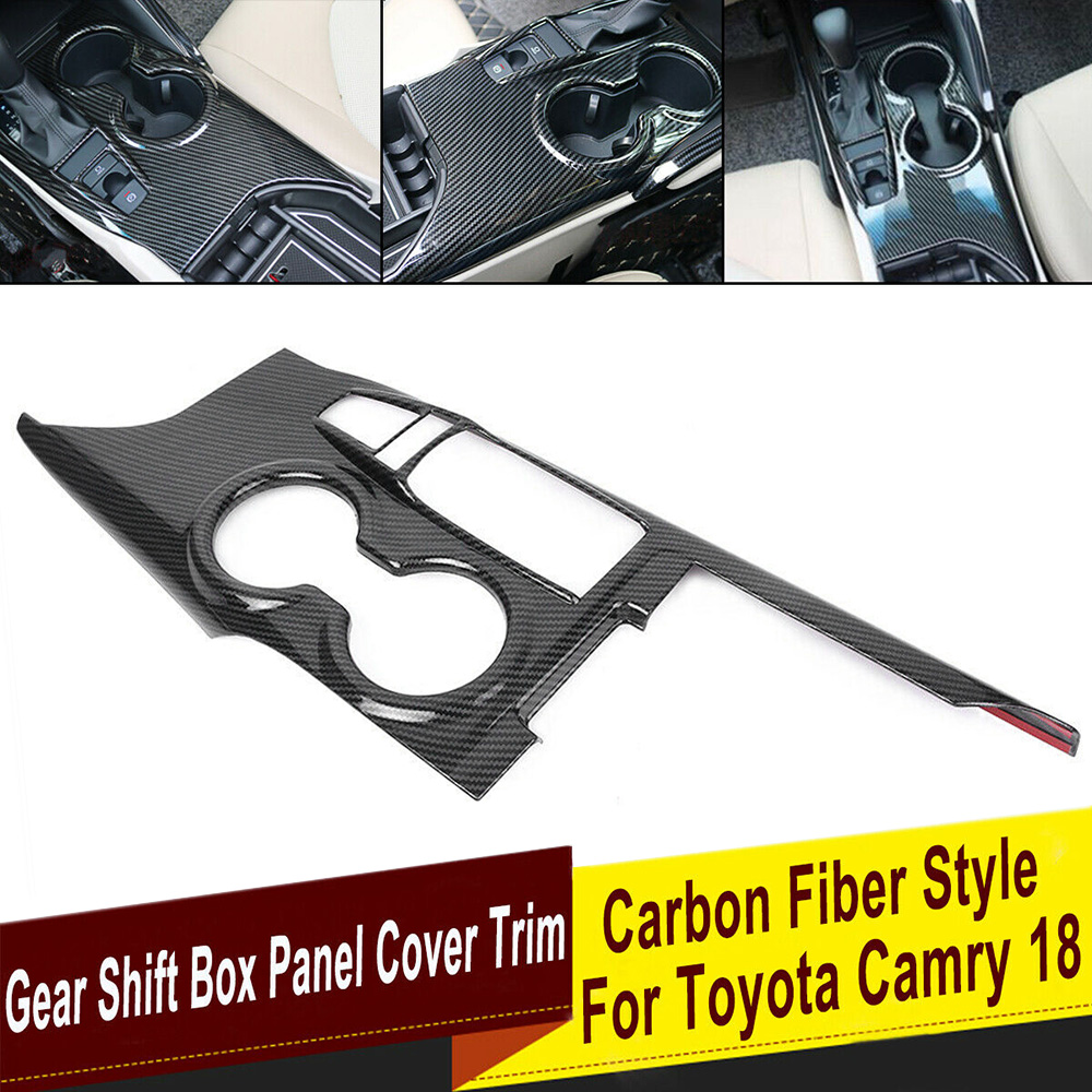 Car Inner Gear Shift Box Panel Frame Cover Trim Carbon Fiber Style Car Sticker for TOYOTA CAMRY 2018-2020 Camry Ordinary