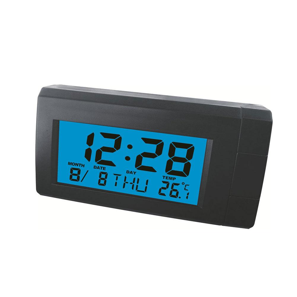 Car Automobile Digital Clock Mini Auto Watch Automotive Month Date Thermometer Backlight Decoration Ornament Temperature Meter