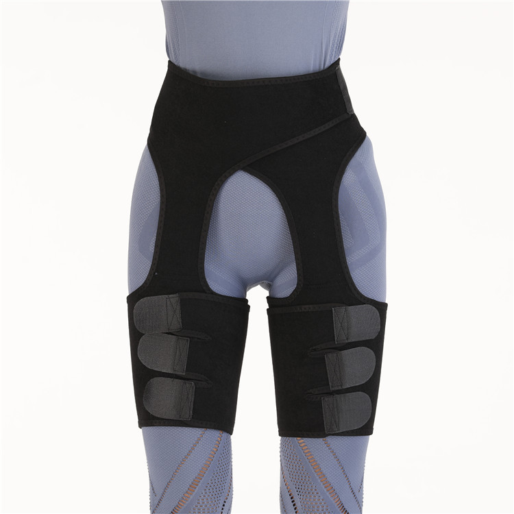 Neoprene Sweat Thigh Trimmers High Waist Thigh Waist Shaper Neoprene Thigh Shaper High Waist Thigh Trimmer black_XL