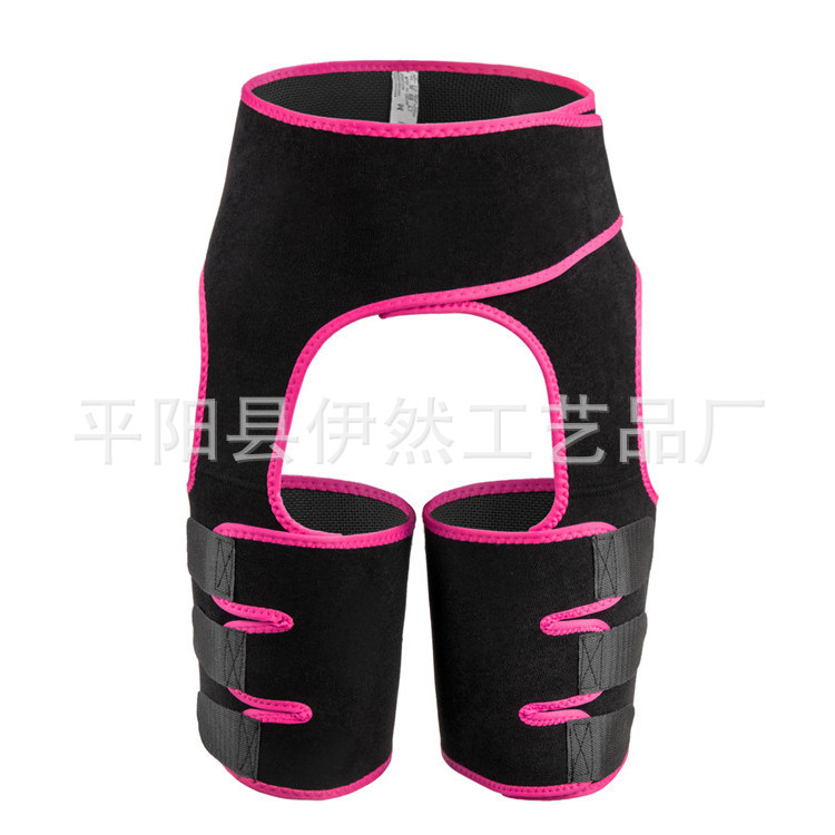 Neoprene Sweat Thigh Trimmers High Waist Thigh Waist Shaper Neoprene Thigh Shaper High Waist Thigh Trimmer Rose Red_M
