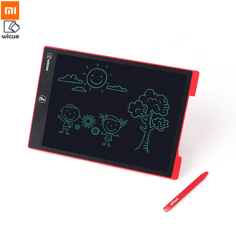 Original XIAOMI Mijia Wicue 12 inch LCD Handwriting Board Writing Tablet No Backlight 5th Soft Screen Red
